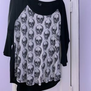 Torrid Skull Print Shirt